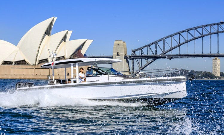 Luxury European Sports Cruiser in Sydney Harbour