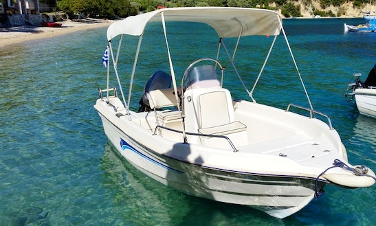 Rent 16' Avra 500 Center Console In Desimi, Greece