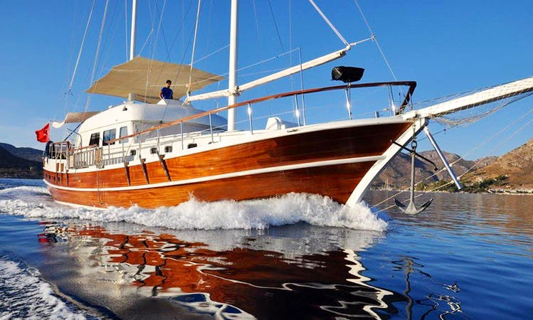 """Charter the sailing yacht of your dreams 68' """"Toska"""" Gulet in Muğla, Turkey"""