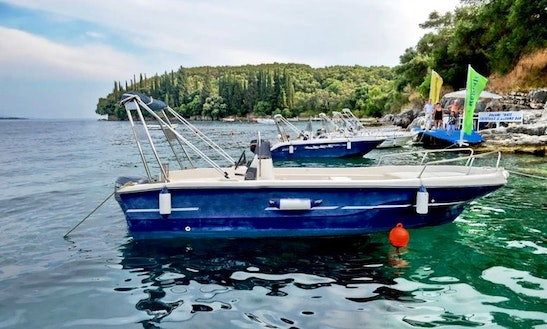 30hp Center Console Boat Hire In Kerkira
