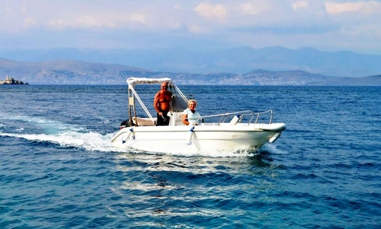 115hp Center Console Boat Hire In Kerkira