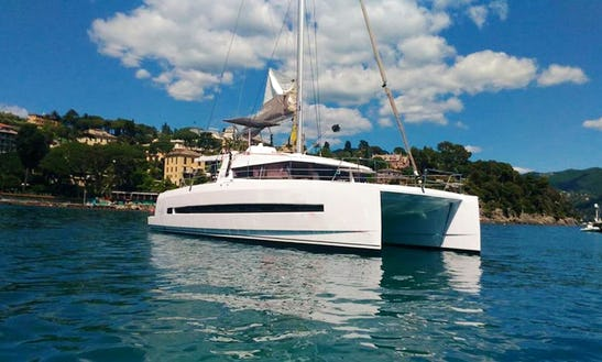 Charter 40ft Bali Sailing Catamaran From Milazzo For Eolian Island Tour