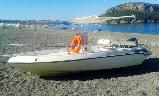 Impressive 7 Person Center Console For Rent In Praia A Mare, Italy