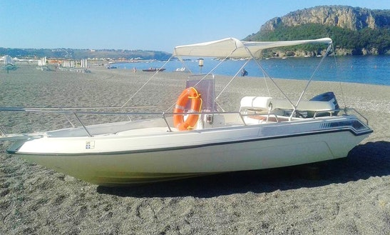 Impressive 7 Person Center Console For Rent In Praia A Mare, Italy