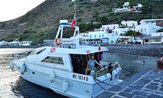 Diving Boat In Santa Marina Salina