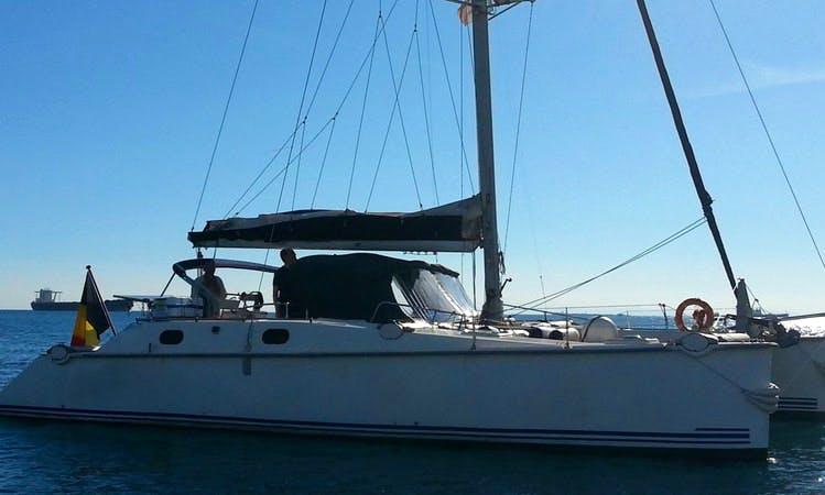 Charter a 37' Sun Way Lady Hawke 37 Sailing Catamaran in Taranto, Italy