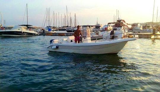 18' Power Boat Rental In Castrignano Del Capo