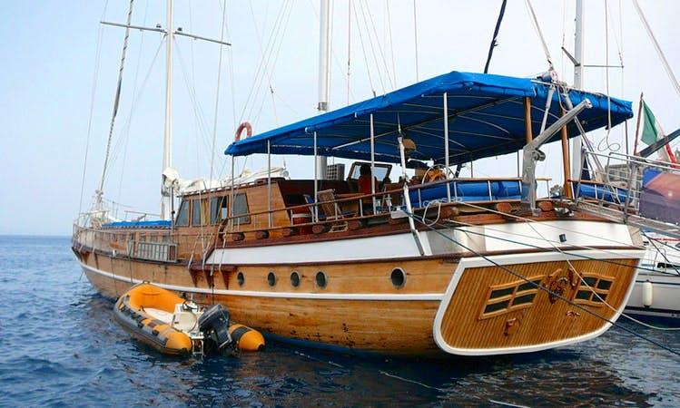 "85' Gulet ""Kaptan Yilmaz II"" Charters in Lipari, Italy"