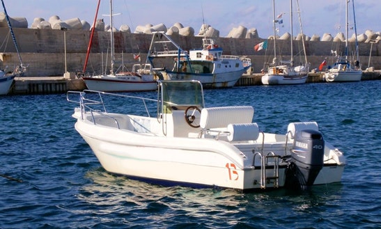 Rent 18' Lady 5.9 Center Console In Santa Maria Di Leuca,