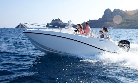 Charter A 20' Quick Silver Open 555 Bowrider In Kotor, Montenegro