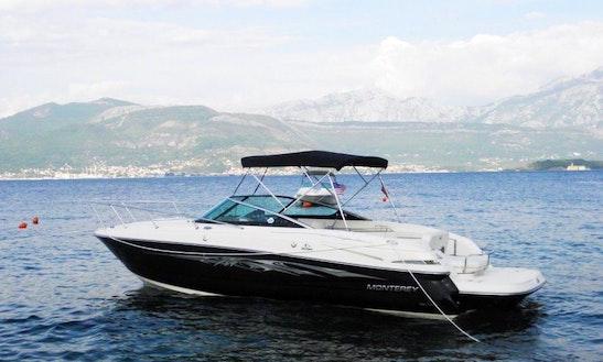 Charter A 26' Monterey Motor Yacht In Kotor, Montenegro