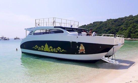 Charter Ramayana Power Catamaran In Na Jomtien, Thailand