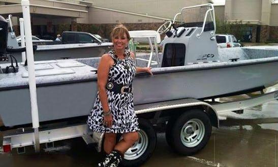 Enjoy Fishing On 23′ Haynie Bigfoot Bay Boat In Aransas Pass, Texas