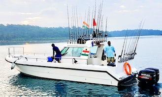 Enjoy Fishing in Port Blair, Andaman and Nicobar Islands on 38' Cuddy Cabin