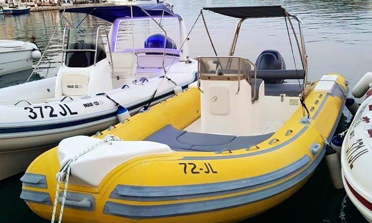 Rent 21' Master 630 Rigid Inflatable Boat in Jelsa, Hvar Island