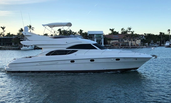 Cruise Miami Aboard Spectacular 50' Motor Yacht With Captain And Crew