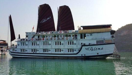 Charter A 125' Junk Boat In Chương Dương, Vietnam