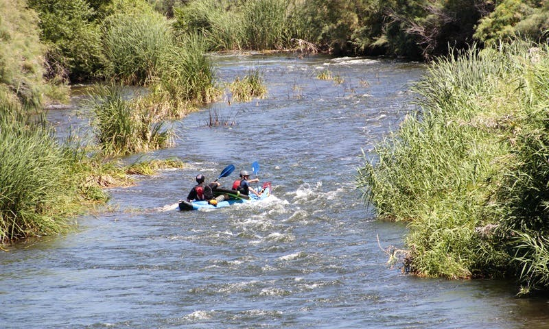 Explore in Phoenix, Arizona on this Inflatable Double Kayak Rental