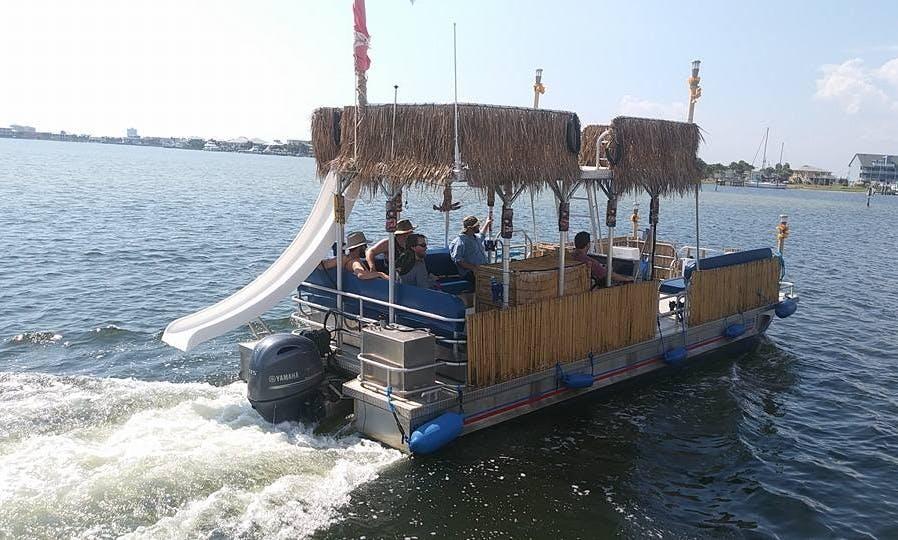 Tiki Hut Pontoon in Pensacola Beach