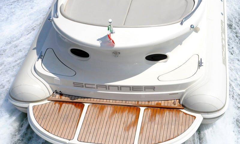 Charter 28' Scanner Dillennium Rigid Inflatable Boat in Tivat, Montenegro