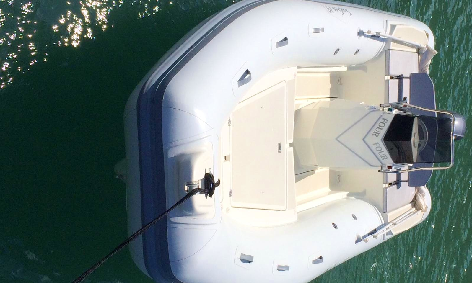 19' Rigid Inflatable Boat Rental In Cefalù, Italy
