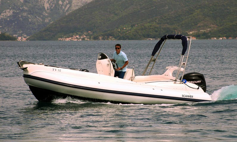 Charter 21' Scanner Envy Rigid Inflatable Boat in Tivat, Montenegro