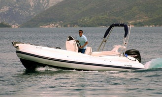 Charter 21' Scanner Envy Rigid Inflatable Boat in Tivat, Montenegro