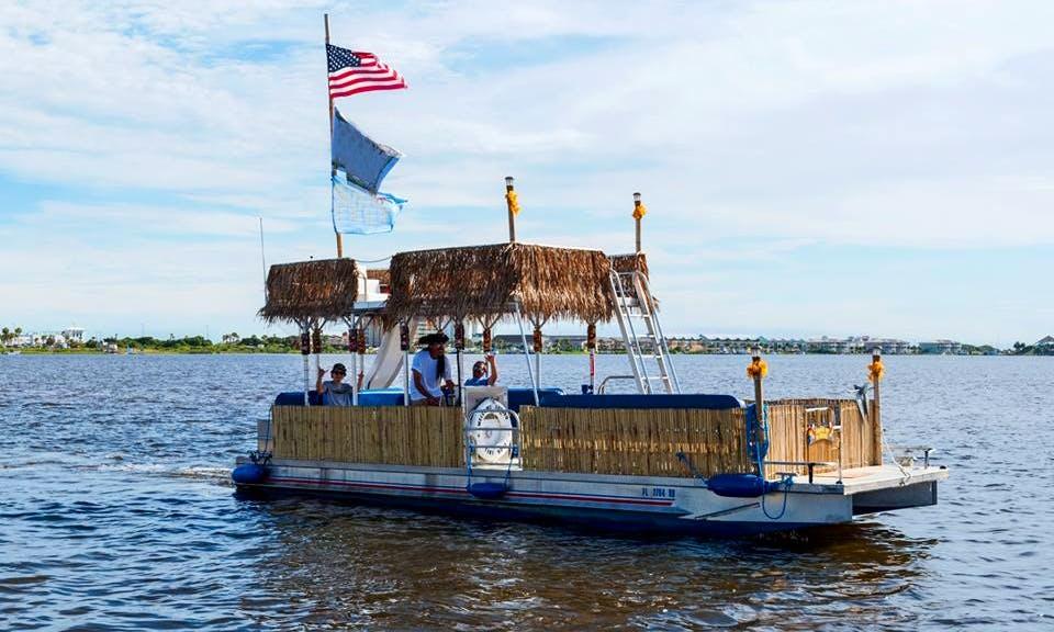 Charter 30' Tiki Pontoon Boat In Pensacola Beach, Florida