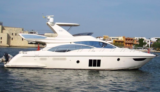 Azimut Fybridge 58' Luxury Yacht In Cartagena, Colombia