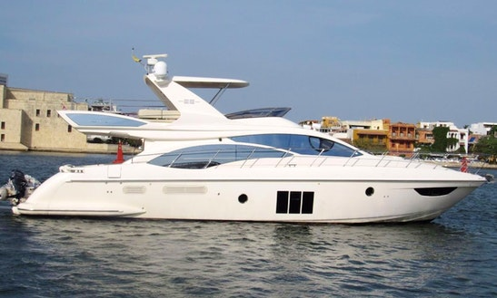Azimut Fybridge 58' Luxury Yacht In Cartagena, Colombia