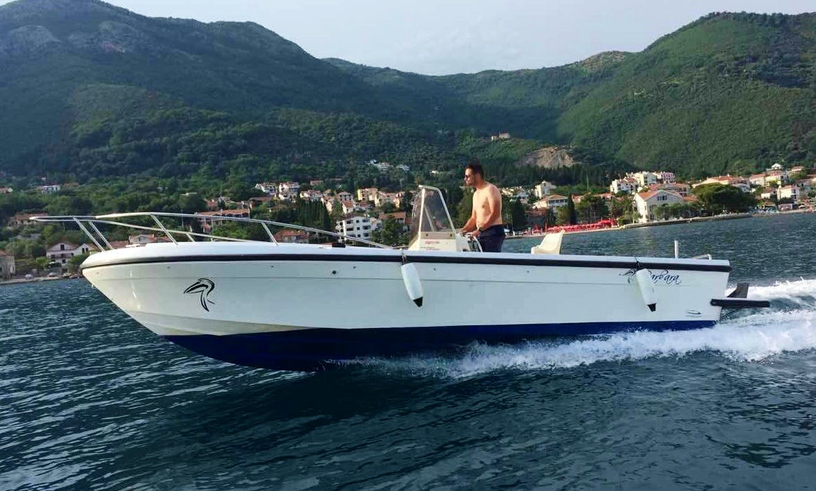 Charter Cranchi Pelican Center Console in Kotor, Montenegro