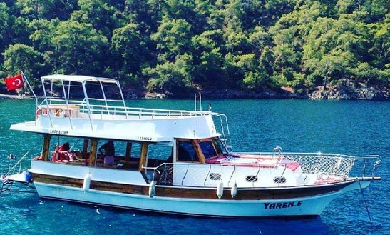 Cruise, Swim, And Have Lunch On A Unique Motor Gullet Charter In Muğla, Turkey