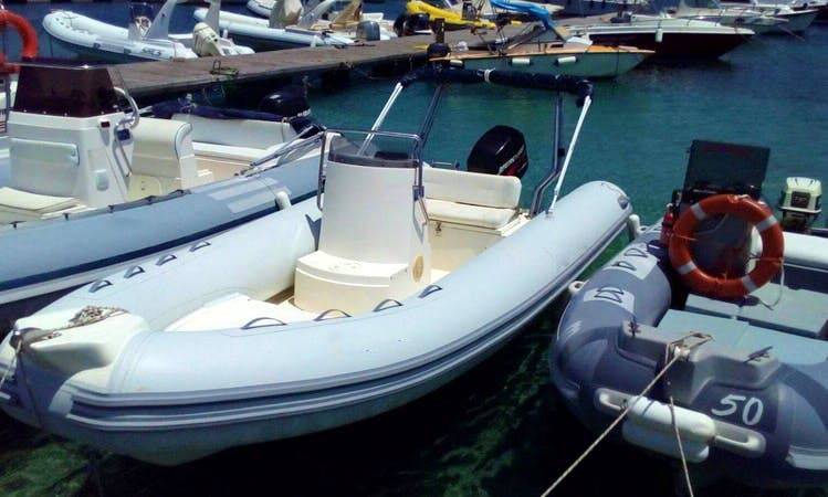 Rent 18' Arimar Rigid Inflatable Boat in San Vito Lo Capo, Sicilia