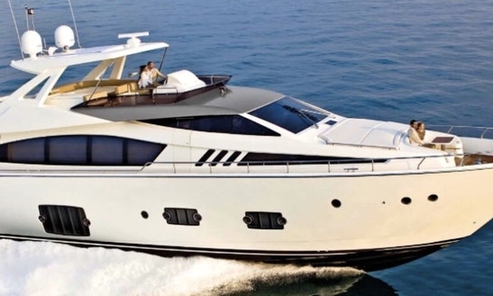 Charter An 80' Power Mega Yacht In Miami Beach, Florida For Your Next Water Adventure!