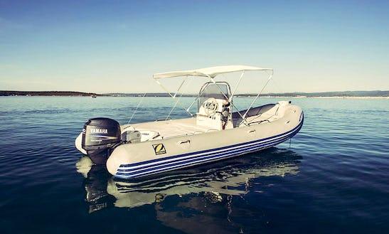 Rent Zodiac Medline 480 Rigid Inflatable Boat In Alghero, Sardegna