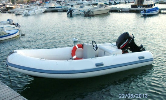 Rent 14' Gomme Inflatable Motor Boat In Isola Di Capo Rizzuto