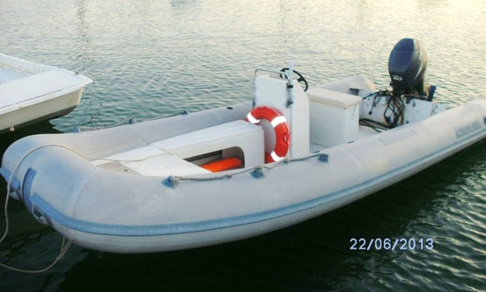 Rent The 16' Gomme Inflatable Motor Boat In Isola Di Capo Rizzuto