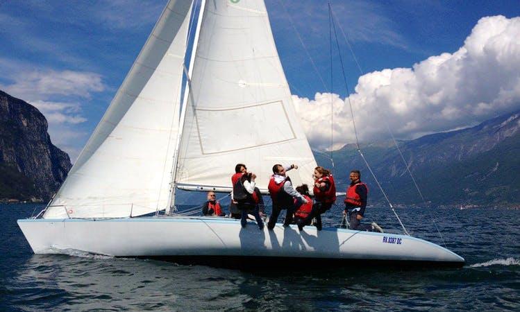 Sailing On Lake Garda On 33ft Asso 99 Sailboat