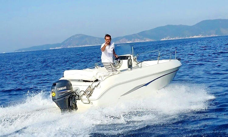 Rent 17' Aquamar Center Console in Marciana Marina, Italy