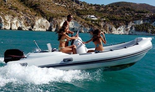 Rent 16' Pholas Rigid Inflatable Boat in Colònia de Sant Jordi, Spain