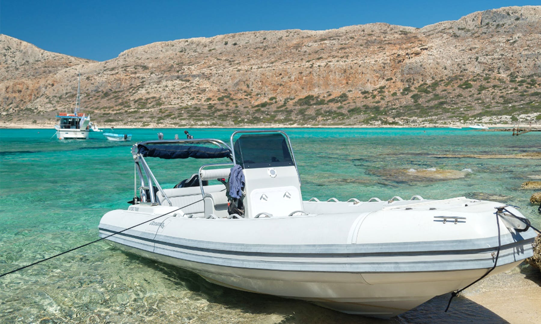 Charter 19' Aegeas Rigid Inflatable Boat in Chania, Greece