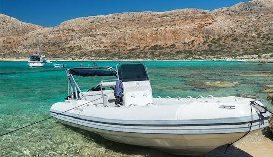 Charter 19' Aegeas Rigid Inflatable Boat In Chania, Greece
