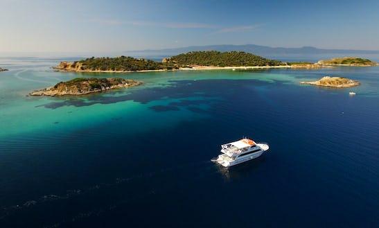 Private Breathtaking Sunset On Board With Eirinikos Glassbottom In Halkidiki Greece