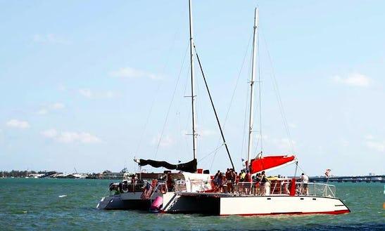 Enjoy Boat Party On Cruising Catamaran In Miami Beach, Florida