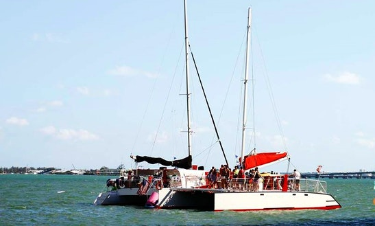 Enjoy Boat Party On Cruising Catamaran In Miami Beach, Florida