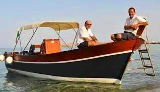 Charter A 10 Person Classic Center Console Boat In Mazzarò, Italy