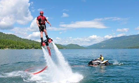 An amazing Flyboarding experience in Chalkidiki, Greece