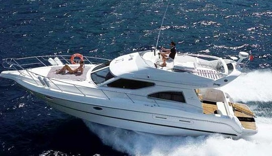Charter 50' Cranchi Flybridge Motor Yacht In Budva, Montenegro