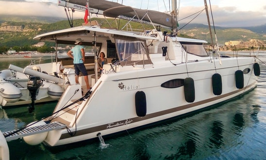 Charter 44' Fountaine Pajot - Clione Cruising Catamaran In Muo, Montenegro