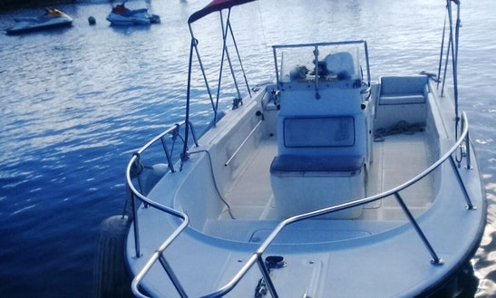 Rent 23' Edgewater Center Console In Dunmore Town, Bahamas